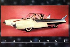 1954 FORD FX-ATMOS postcard front