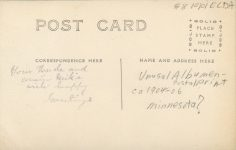 1906 ca. CAT Your standing outside uncle and cat RPPC back