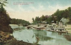 1907 DELLS OF WISCONSIN UP THE RIVER FROM SLIDING ROCK postcard front