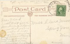 1907 ca. CAT Solway MINN Why Don't You Write postcard back