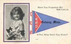 1907 ca. CAT Solway MINN Why Don't You Write postcard front