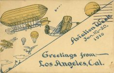 1910 1 10 20 Aviation Week Los Angeles, Cal postcard front