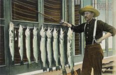 1910 ca. Beaver Dam, WIS A half days catch W.H. Beckon postcard front