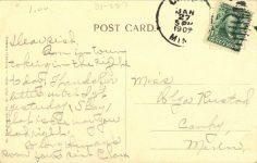 1910 ca. Canby, MINN Residence postcard back