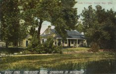 1910 ca. Green Bay, WIS Tank Cottage BUILT 1765 OLDESET HOUSE STANDING IN WISCONSIN postcard front