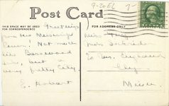 1910 ca. Red Wing, MINN Manufacturing District postcard back