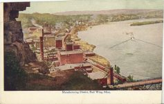 1910 ca. Red Wing, MINN Manufacturing District postcard front