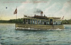 1912 8 6 Minneapolis, MINN Lake Minnetonka STEAMER WHITE BEAR postcard front