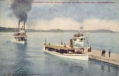 1912 ca. Minneapolis, MINN Lake Minnetonka STEAMERS PURITAN & EXCELSIOR VICTOR No. 1394 postcard front