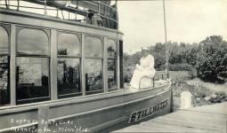 1915 ca. Lake Minnetonka, MINN Express Boat STILLWATER 5.5″×3.25″ snapshot front