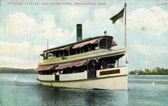 1915 ca. Lake Minnetonka, MINN STEAMER PURITAN 5144 postcard front