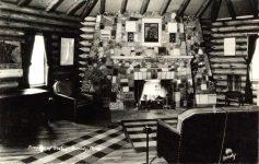 1940 ca. Bemidji, MINN Fireplace of States HAK Bemidji RPPC front