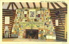 1940 ca. Bemidji, MINN Fireplace of States BM-13 postcard front