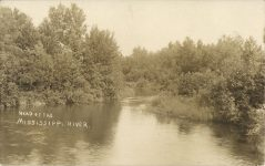 1940 ca. Itaska, MINN HEAD OF THE MISSISSIPPI RIVER RPPC front
