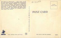 1940 ca. MT. RUSHMORE, SD THE SHRINE OF DEMOCRACY postcard back