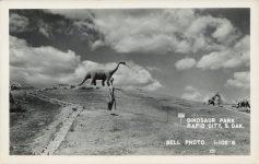 1950 ca. DINOSAUR PARK RAPID CITY, S DAK Bell Photo 1-102-6 RPPC front