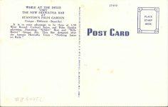 1950 ca. NEW HIAWATHA BAR Wisconsin Dells, WIS postcard back