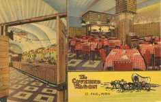 1950 ca. St. Paul, MINN THE COVERED WAGON postcard front