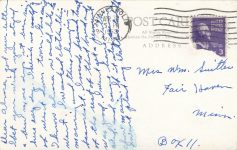 1953 4 3 Park Rapids, MINN World's Record Muskellunge 163 postcard back
