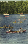 1954 7 23 Minneapolis, MINN Finish of Canoe Derby M-100 postcard front