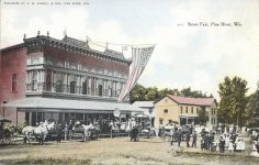 1909 8 24 WIS, Pine River Street Fair postcard front
