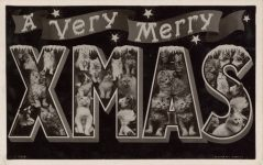 1910 ca. CATS A VERY MERRY CHRISTMAS RPPC front