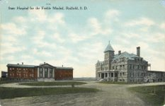1910 ca. S D Red Field State Hospital for the Febble Minded postcard front