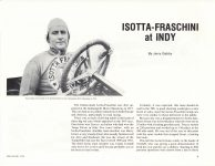 1976 5 6 1913-1914 ISOTTA FRASCHINI at INDY By Jerry Gebby ANTIQUE AUTOMOBILE page 9