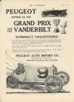 1915 3 11 PEUGEOT Winner GRAND PRIX and VANDERBILT THE AUTOMOBILE 9″×12″ page 2