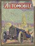 1915 3 11 THE AUTOMOBILE Racecar illustration 9″×12″ Front cover