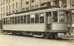 1915 ca. MINN, Minneapolis Minnehaha Falls street car RPPC front