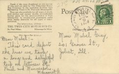 1928 7 9 MINN, Minneapolis THE TWIN CITY MOTOR BUS CO. RPPC back