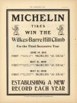 1910 6 22 MICHELIN WIN THE Wilkes Barre Hill Climb THE HORSELESS AGE 9″×12″ page 16