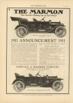 1910 7 13 IND THE MARMON 1911 ANNOUNCEMENT 1911 THE HORSELESS AGE 9″×12″ page 12