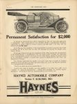 1910 7 6 IND HAYNES Permanent Satisfaction for 2000 THE HORSELESS AGE 9″×12″ page 21