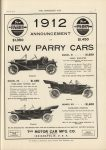 1911 6 28 IND PARRY 1912 $1350 NEW PARRY CARS $1450 THE HORSELESS AGE 9″×12″ page 7