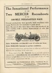 1911 6 7 Indy 500 MERCER The Sensational Performance THE HORSELESS AGE 9″×12″ page 14F