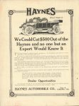 1912 3 6 IND HAYNES AUTOMOBILE CO. THE HORSELESS AGE 9″×12″ Inside front cover