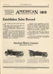 1912 6 19 IND AMERICAN Underslung 1913 This Most Modern Car Establishes Sales Record THE HORSELESS AGE 9″×12″ page 39
