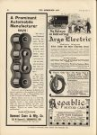 1912 7 3 IND DIAMOND CHAIN A Prominent Automobile Manufacturer says THE HORSELESS AGE 9″×12″ page 40