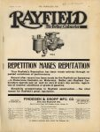 1912 8 21 RAYFIELD Carburetor REPETITION MAKES REPUTATION THE HORSELESS AGE 9″×12″ page 1
