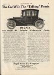 "1912 8 21 REGAL The Regal ""25"" Colonial ""Underslung"" Coupe $1250 THE HORSELESS AGE 9″×12″ page 39"