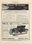 1912 9 4 IND Prest-O-Liter THE HORSELESS AGE 9″×12″ page 47