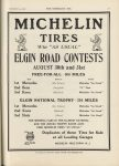 1912 9 4 MICHELIN TIRES ELGIN ROAD CONTESTS THE HORSELESS AGE 9″×12″ page 21
