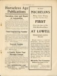 1908 9 9 MICHELINS FIRST AT LOWELL THE HORSELESS AGE 9″×12″ page 21