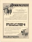 1911 9 27 HOLLEY 1912 MODEL H CARBURETOR THE HORSELESS AGE 9″×12″ Inside back cover