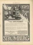 1911 9 27 STROMBERG Type A Carburetor THE HORSELESS AGE 9″×12″ page 1