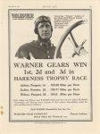 1916 11 2 IND WARNER GEARS WIN Johnny Aitken Peugeot MOTOR AGE 9″×12″ page 95