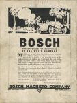1916 8 1 BOSCH Magnetos THE HORSELESS AGE 9″×12″ Back cover