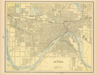 1886 ca. MAP OF ST PAUL 14.25″×11.25″